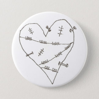Abused Heart 3 Inch Round Button