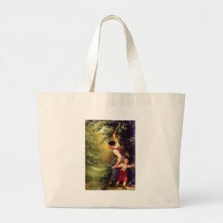 abusive woman large tote bag