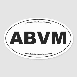 ABVM Oval Sticker (Assumption of the Blessed Virgi
