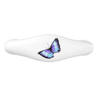 """""""Abyss"""" (Blue Butterfly) Ceramic Drawer Pull"""