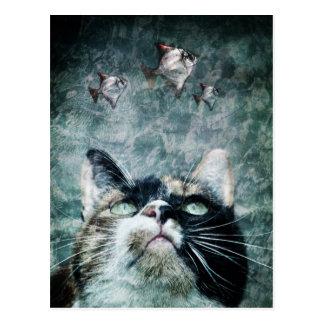 Abyss cat Postcard