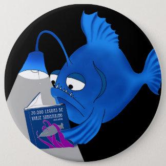 Abyssal fish 6 inch round button