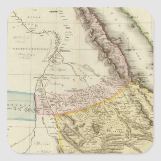 Abyssinia, Nubia &c Square Sticker