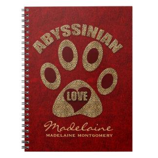 Abyssinian Cat Breed | Custom Red Cheetah Notebook