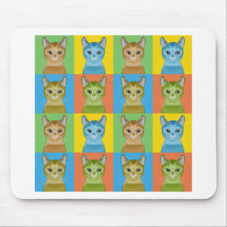 Abyssinian Cat Pop-Art Mouse Pad