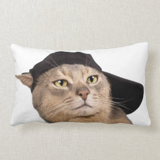 Abyssinian Cool Cap Cat Lumbar Pillow