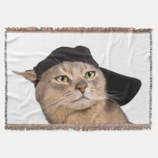 Abyssinian Cool Cap Cat Throw Blanket