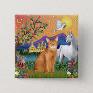 Abyssinian (red 18) - Fantasy Land 2 Inch Square Button