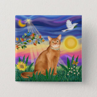 Abyssinian (red 18) - Twilight (horiz) 2 Inch Square Button