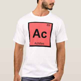 Ac - Achilles Greek Chemistry Periodic Table T-Shirt