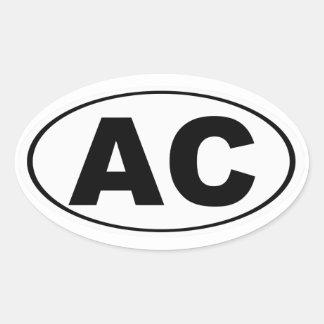 AC Atlantic City Oval Sticker