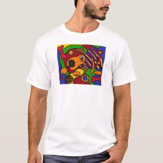 AC- Awesome Dog Cubist Art T-Shirt