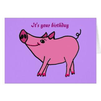 AC- Happy Birthday Pig Greeting Card