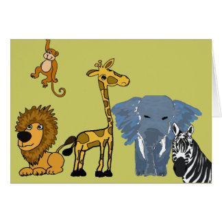 AC- Jungle Friends Thinking of you Card