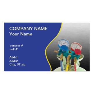 AC maintenance gauge Business Card Templates