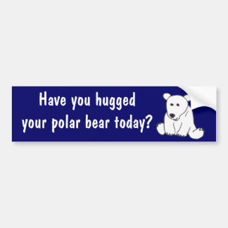 AC- Polar Bear Hug Bumper Sticker