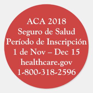 ACA Período de Inscripción - Resistencia Roja Classic Round Sticker