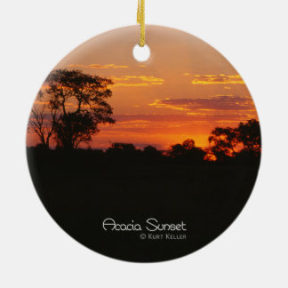 Acacia Sunset Ceramic Ornament