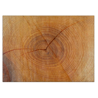 Acacia Tree Cross Section Glass Chopping Board Cutting Board