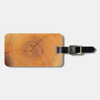 Acacia Tree Cross Section Luggage Tag