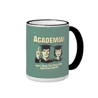 Academia: Tasty Nuts From Hawaii Ringer Mug