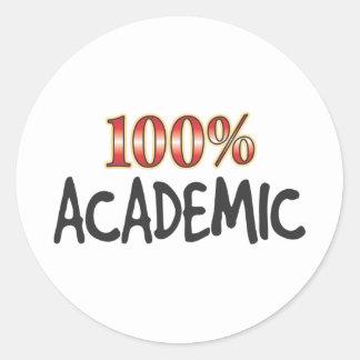 Academic 100 Percent Round Sticker