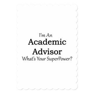 "Academic Advisor 5"" X 7"" Invitation Card"