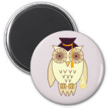 Academic Owl 2 Inch Round Magnet