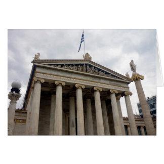 académie d'Athènes Carte De Vœux
