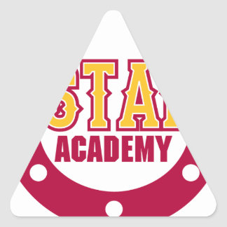 Académie de mustang autocollant en triangle