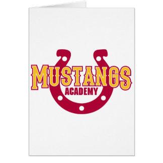 Académie de mustang carte de vœux