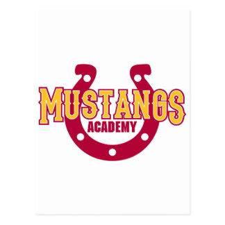 Académie de mustang cartes postales
