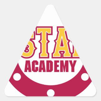 Académie de mustang sticker triangulaire