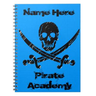 Académie de pirate carnets à spirale