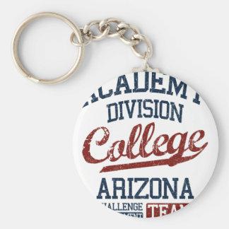 academy division college basic round button keychain