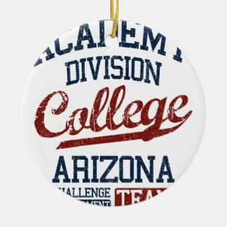 academy division college round ceramic ornament