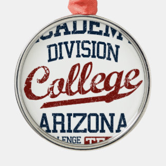 academy division college Silver-Colored round ornament