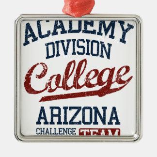 academy division college Silver-Colored square ornament