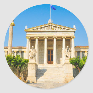 Academy in Athens, Greece Classic Round Sticker