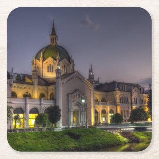 Academy of Fine Arts, Sarajevo, Bosnia and Herzego Square Paper Coaster