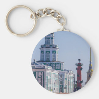 Academy of science, 1783-1789, and Museum of Anthr Basic Round Button Keychain