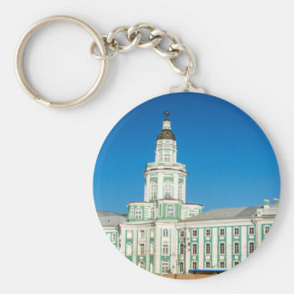 Academy of science,and Museum of Anthropology Basic Round Button Keychain