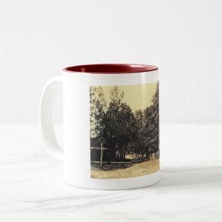 Academy Street, Califon, New Jersey Vintage Two-Tone Coffee Mug