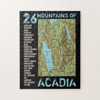 ACADIA MAP JIGSAW PUZZLE