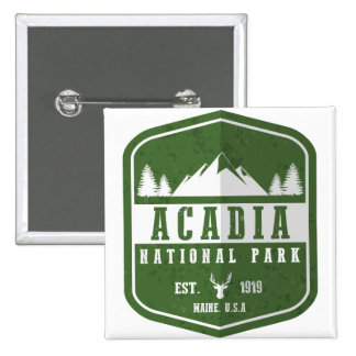 Acadia National Park 2 Inch Square Button