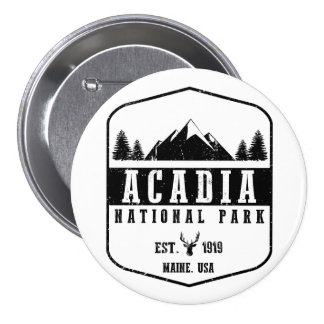 Acadia National Park 3 Inch Round Button