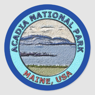 Acadia National Park Maine, USA Classic Round Sticker