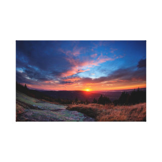 Acadia National Park Sunset Canvas Print