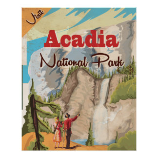 Acadia national park Vintage Travel Poster