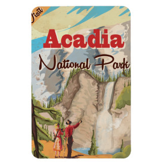 Acadia national park Vintage Travel Poster Magnet